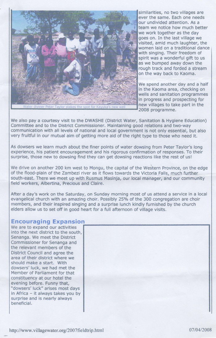 Village Water Article